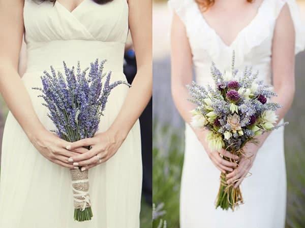 bó hoa hoa hương lavender cầm tay