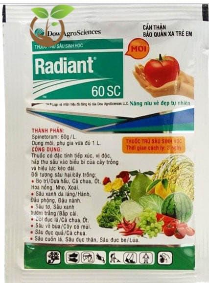 Thuốc trừ sâu sinh học Radiant 60SC