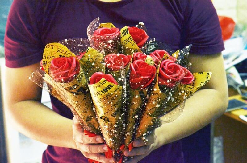 Mua hoa hồng sáp ở đâu hà nội